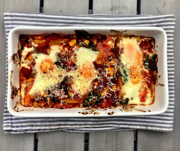 Awesome Spicy Baked Eggs